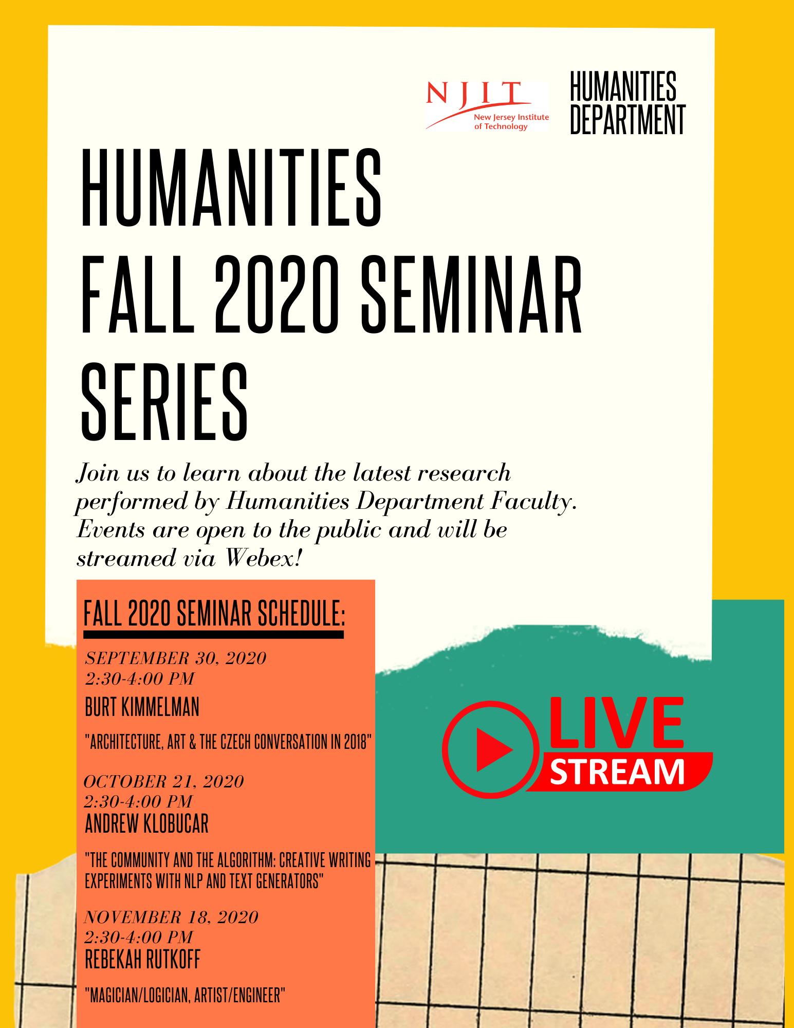 FALL 2020 Seminar Series