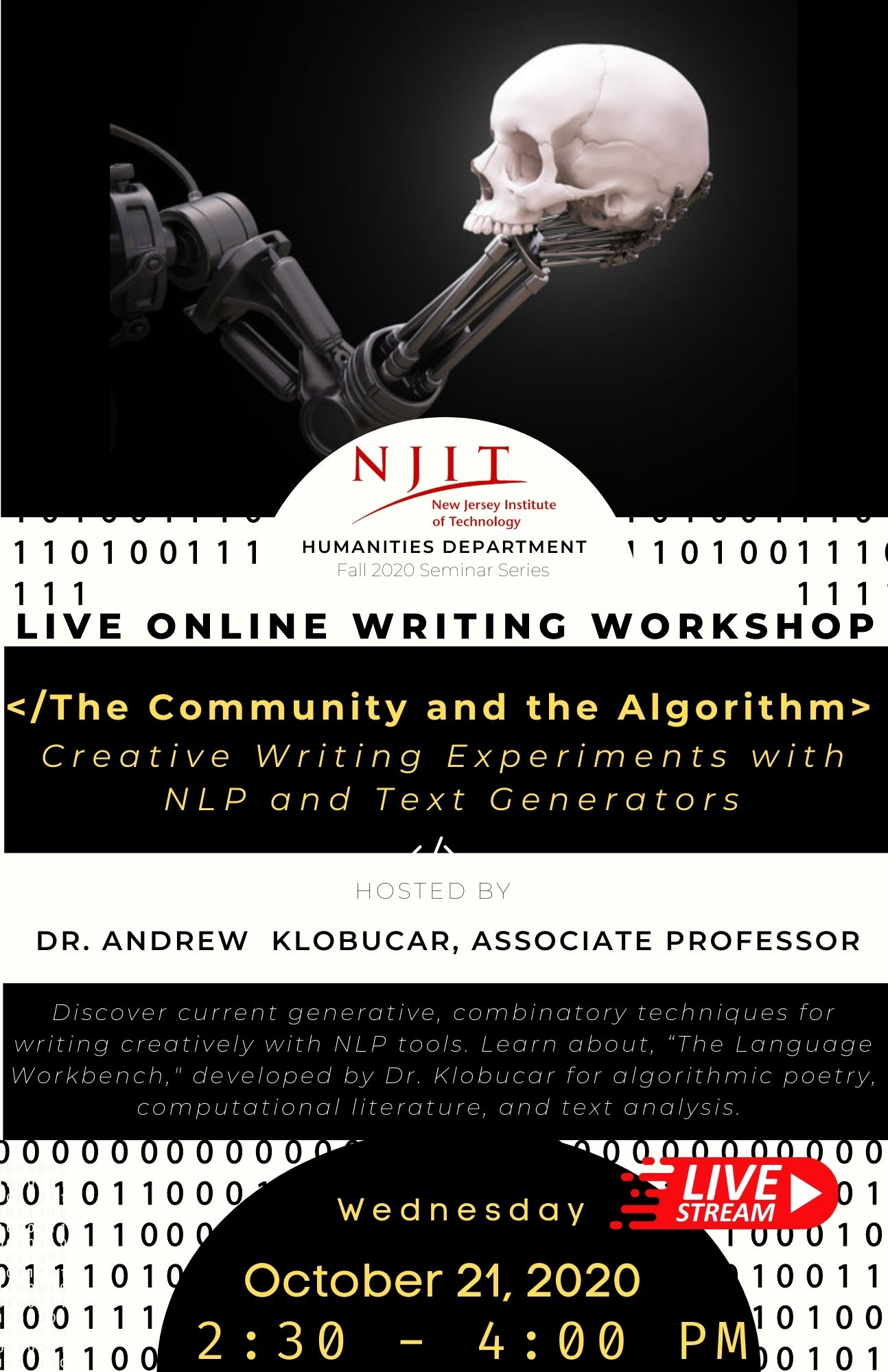 """""""The Community and the Algorithm: Creative Writing Experiments with NLP and Text Generators"""""""